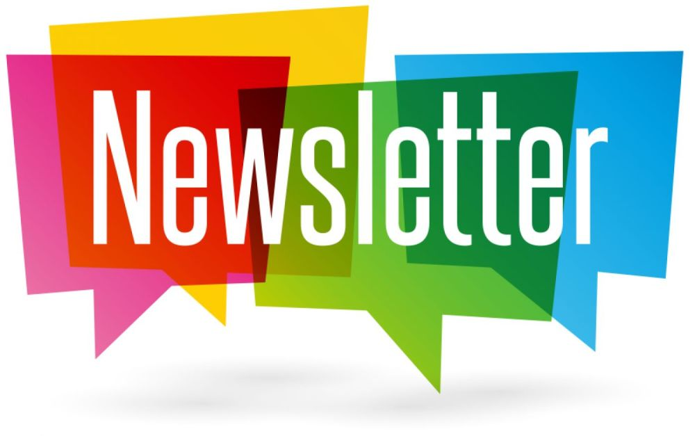 Image of multiple speech bubbles with the the word Newsletter on top